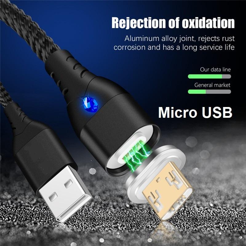 2 Метра Кабель iONCT 3A USB 3.0 Micro USB Магнитный Шнур для Быстрой Зарядки