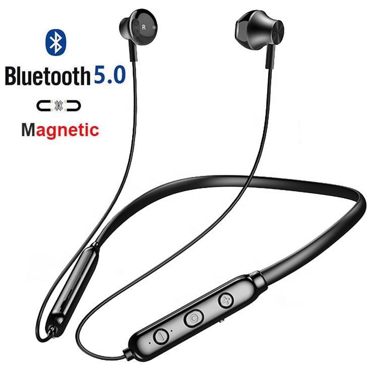 Беспроводные Bluetooth V5.0 HI-FI Наушники Nouvve Y12 SPORT Магнитные Гарнитура