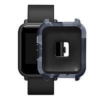 Amazfit Bip Защитный силиконовый чехол для смарт часов, gray camouflage