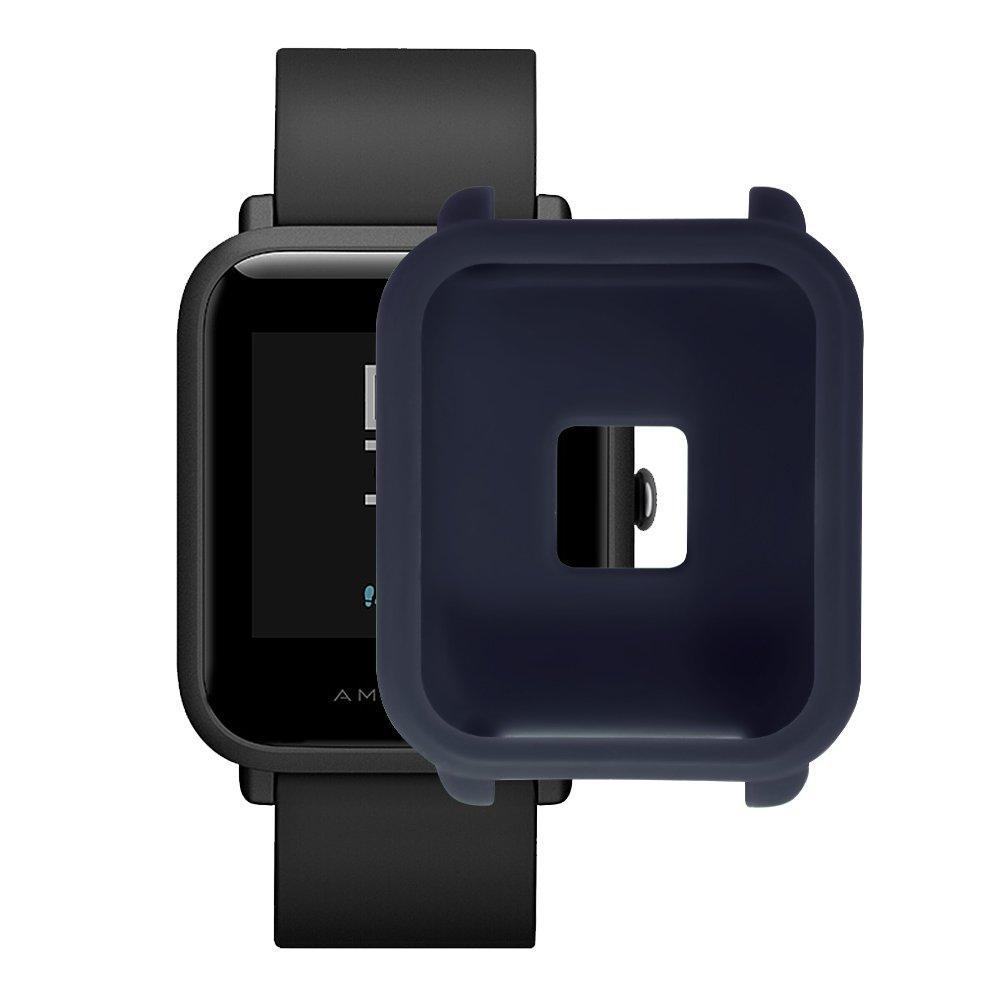 Amazfit Bip Защитный силиконовый чехол для смарт часов, Navy blue