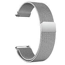 Amazfit Pace / Stratos / GTR 47 мм. Металевий магнітний ремінець для смарт годин, Silver, ширина - 22 мм