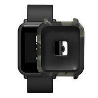 Amazfit Bip Защитный силиконовый чехол для смарт часов, green camouflage