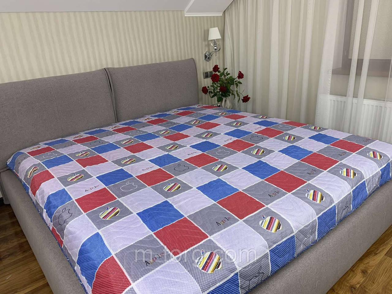 Стеганное летнее одеяло покрывало полуторный размер 145/210 см