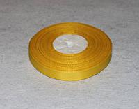 Лента репсовая жёлтая 1,2 см 16754