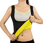 ОПТ Жіноча майка для схуднення Yoga VEST Розмір XXL Yoga VEST Чорна, фото 4