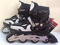 Детские роликовые коньки PROFI A 21109 L (38-41), черный