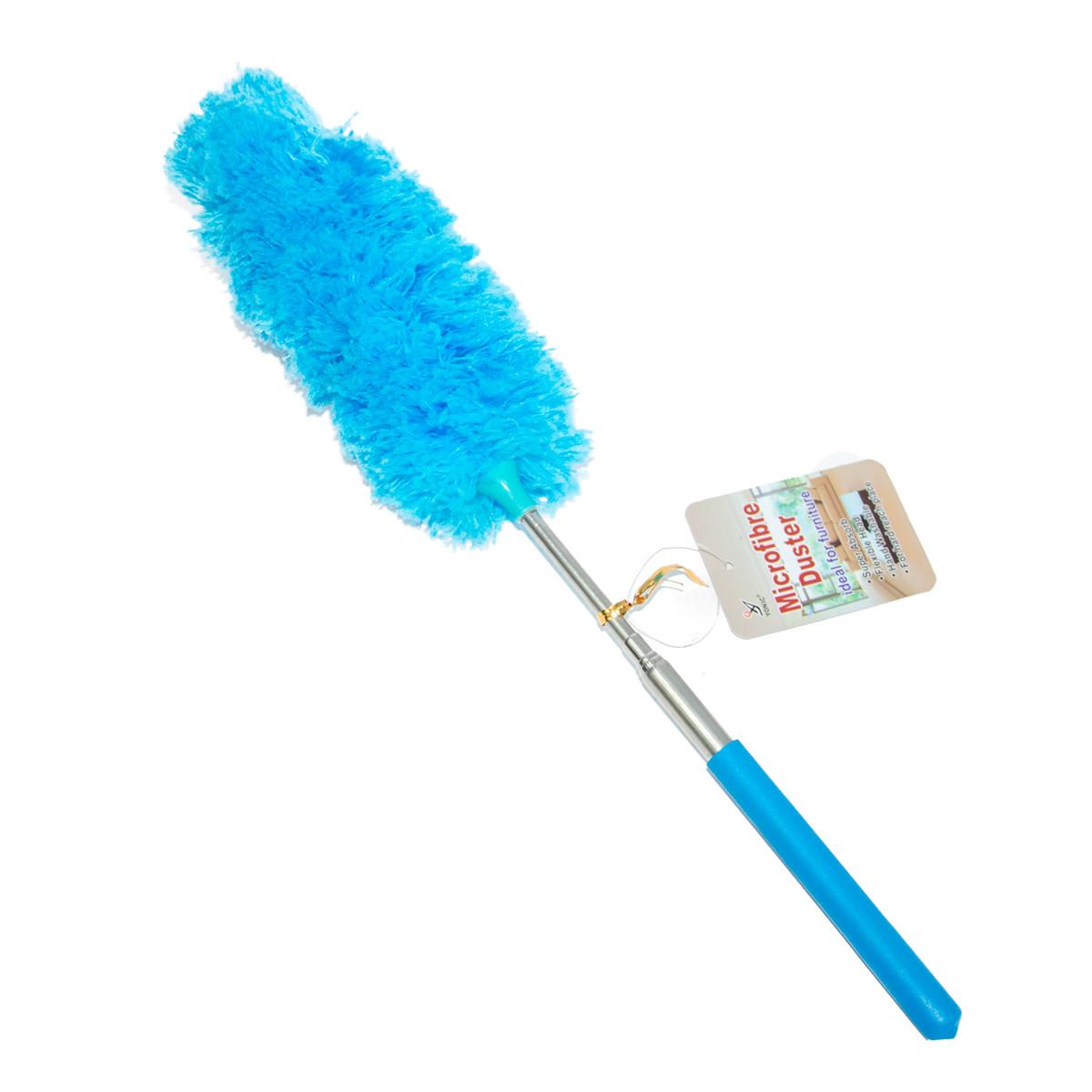 Пипидастр для уборки пыли Microfibre Duster 33-80 см голубой, телескопическая метелка для смахивания пыли (GK)