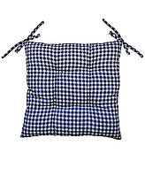 Подушка на стул Синяя клеточка