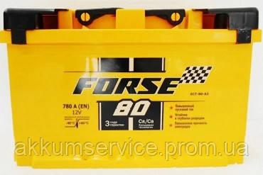 Аккумулятор автомобильный FORSE (Megatex) 80Ah R+ 780A