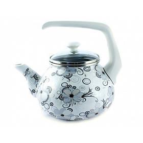 Чайник эмалированный Interos Кружево 2,2 л 1279 (72671)