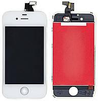 Дисплей Apple iPhone 4 з тачскріном і рамкою, оригінал (Китай), білий