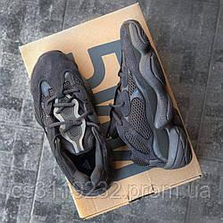 Мужские кроссовки Adidas Yeezy 500 Mono Black (черные)