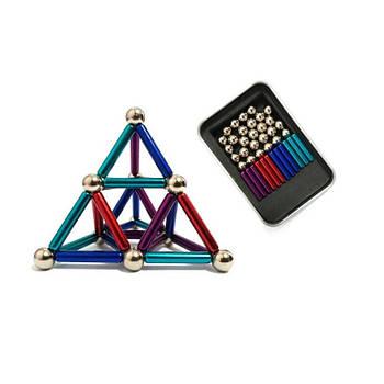 Магнітний конструктор Neo 36 паличок і 26 кульок Різнобарвний 1182