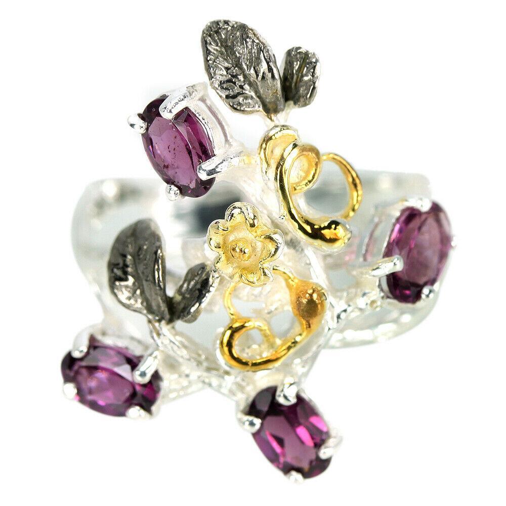Серебряное кольцо с гранатом родолит, 1476КР