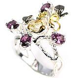 Серебряное кольцо с гранатом родолит, 1476КР, фото 2