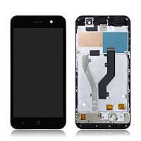 Дисплей (LCD) ZTE Blade A520   A520C с тачскрином и рамкой, черный