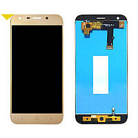 Дисплей (LCD) ZTE Blade A6   Blade A6 Lite   A620   A0620 с тачскрином и рамкой, золотистый