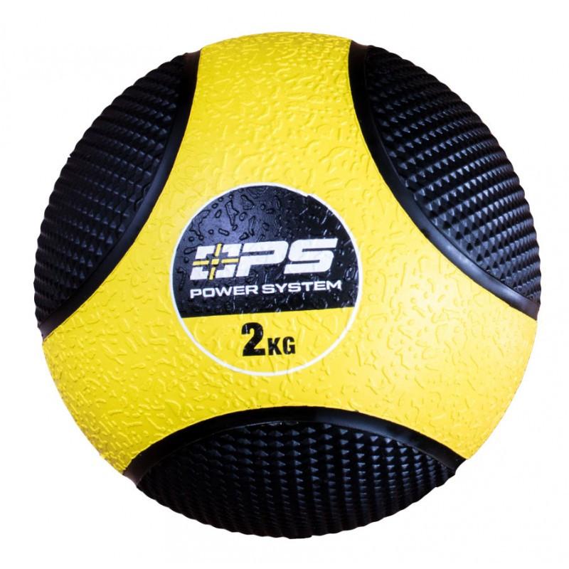 Медбол (набивний м'яч) Medicine Ball Power System PS-4132 2 кг жовтий
