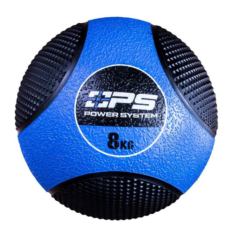 Медбол (набивний м'яч) Medicine Ball Power System PS-4138 8 кг синій