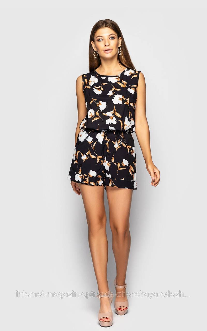 Женский мини-комбинезон с шортами и кокетливым вырезом на спине,модная летняя одежда для женщин