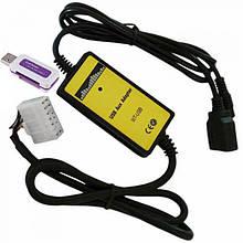 USB AUX MP3 WAV адаптер для магнитолы 14пин Honda, Acura