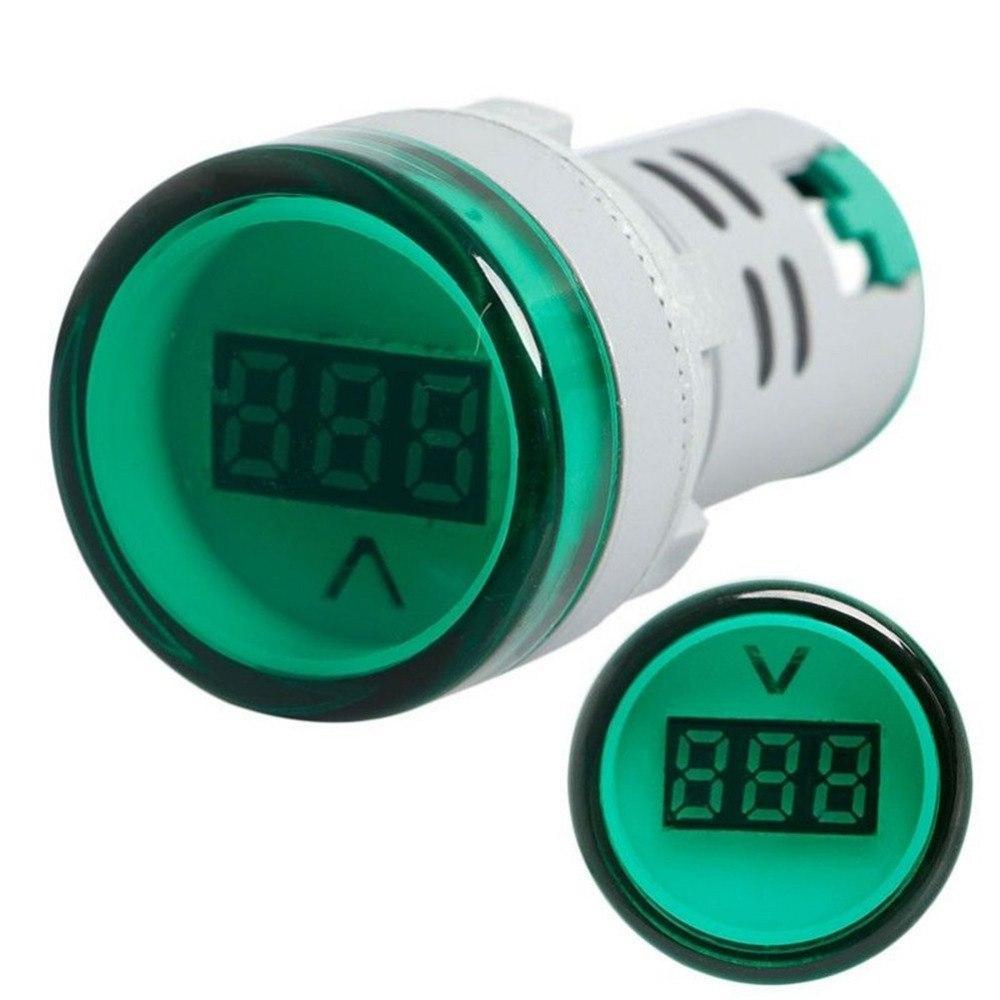 Вольтметр індикатор AC60-500V, 60-500В 22мм на панель щита