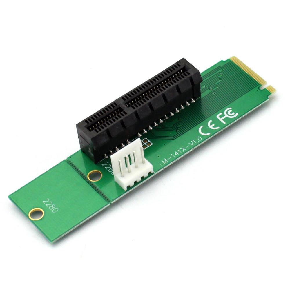 M.2 NGFF на PCI-E 4X райзер переходник LM-141X-V1.0