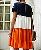 """Дуже круте літнє жіноче різнобарвне плаття великих розмірів """"Тріша"""", фото 2"""