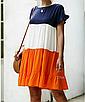 """Дуже круте літнє жіноче різнобарвне плаття великих розмірів """"Тріша"""", фото 3"""