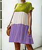 """Дуже круте літнє жіноче різнобарвне плаття великих розмірів """"Тріша"""", фото 4"""