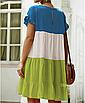 """Дуже круте літнє жіноче різнобарвне плаття великих розмірів """"Тріша"""", фото 8"""