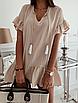 """Очень легкое летнее женское короткое платье свободного кроя с завязками """"Тэйлер"""", фото 2"""