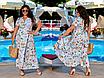 Элегантное летнее женское длинное платье на запах  больших размеров, красивая батальная одежда на лето, фото 5