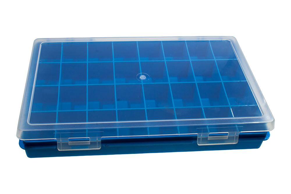 Коробка-бокс для радиодеталей Arduino, двойной 22х15см