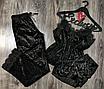 """Нереально классная женская велюровая пижама тройка """"Фелисия"""", фото 3"""