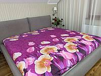 """""""сиреневое с цветами"""" стеганное летнее одеяло покрывало двуспальный размер 175/205"""