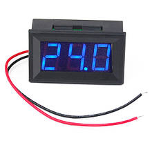 Цифровий вольтметр постійного струму 4,5-30В DC Синій автономний