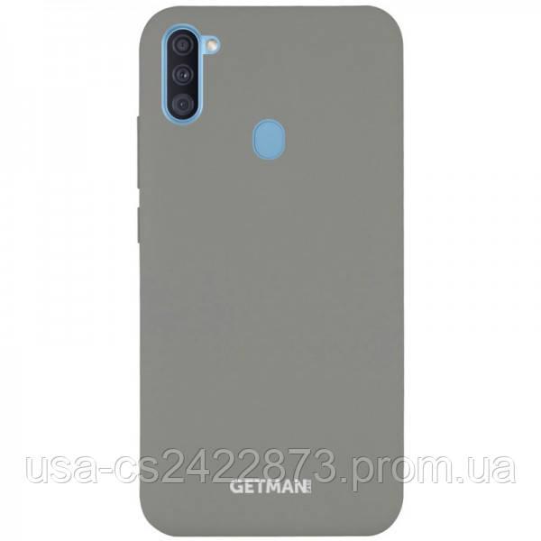 Чехол Silicone Cover GETMAN for Magnet для Samsung Galaxy A11 / M11