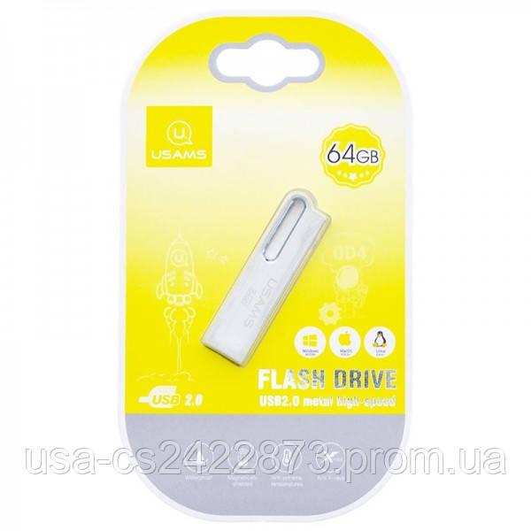 USAMS Флеш накопитель USAMS US-ZB099 64Gb Aluminum Alloy USB High Speed Flash