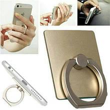 Держатель кольцо для телефона (попсокет / popsocket / подставка) золотистый