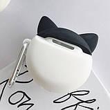 Силиконовый футляр Husky для наушников AirPods + карабин, фото 7
