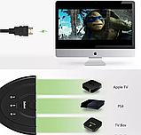 HDMI 2K свіч з 3х в 1 спліттер switch перемикач комутатор світч, фото 5
