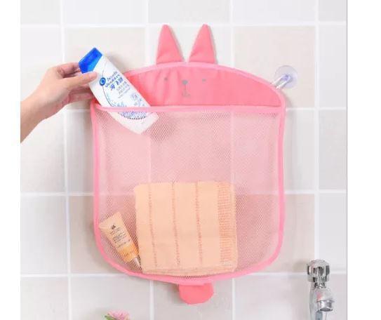 Сетка в ванную для хранения игрушек на присоске детская 39х35 см