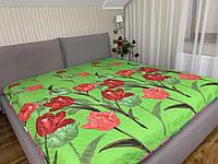 """""""тюльпаны"""" стеганное летнее одеяло покрывало двуспальный размер 175/205"""