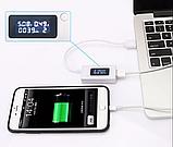 USB тестер зарядки KCX-017 меряет емкость батареи V, A счетчик емкости, фото 2