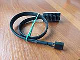 Перехідник 1 кулер на 4 кулера розгалужувач харчування 30 см 3-4 pin, фото 2