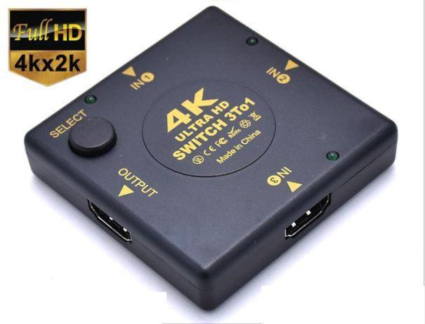 HDMI 4K из 3х в 1 switch переключатель свич коммутатор свитч 4К 2К