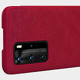 Nillkin Кожаный чехол (книжка) Nillkin Qin Series для Huawei P40 Pro, фото 7