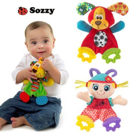 Іграшка шуршалку Sozzy, яскрава, шарудить, прорізувач для дітей 0-3г