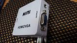 Конвертер перехідник HDMI->VGA USB живлення+звук HDMI2VGA T2 т2 ps3 ps4, фото 7